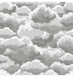 Thunder sky seamless pattern vector image