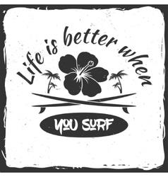 Surf board hire concept vector