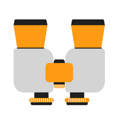 binoculars isolated on white background vector image