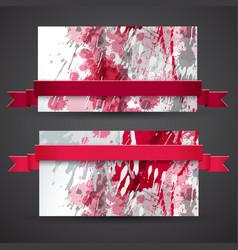 Vinous abstract banner set vector