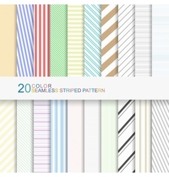 20 color seamless striped patterns vector