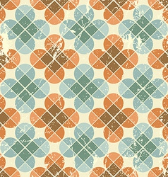 Vintage flower tiles with grunge texture seamless vector