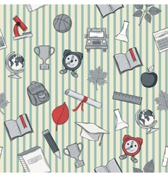 School pattern with line vector image