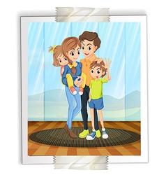 Family photo vector image