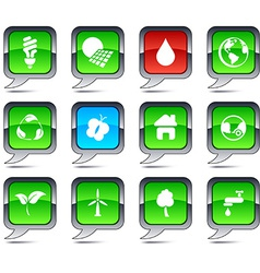 Ecology balloon icons vector