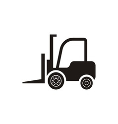 Forklift truck icon vector