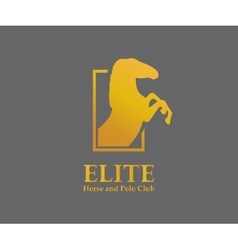 Logo design element horse steed vector