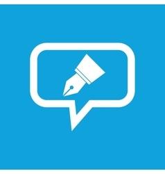 Ink pen nib message icon vector image