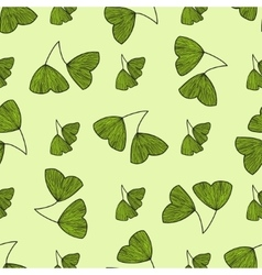 Seamless pattern with leaves of Gingko biloba vector image