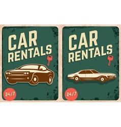 Car rentals vector