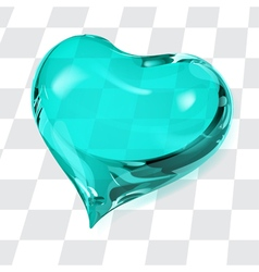 Big transparent heart vector