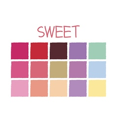 Sweet color tone without code vector
