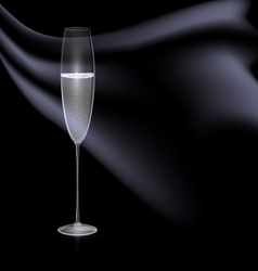 Glass and black drape vector