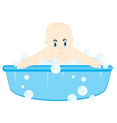 Infant is washed vector