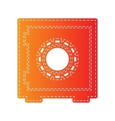 Safe sign  orange applique isolated vector