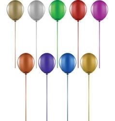 Colourful balloons vector