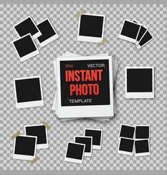 Instant photo blank vintage photo frame vector