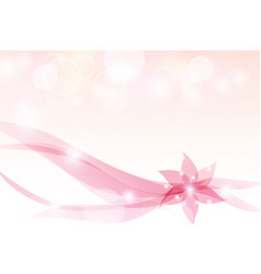 abstract background floral pink bokeh-light vector image vector image