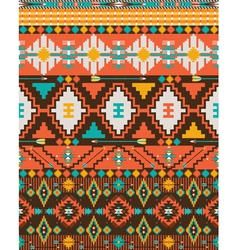 Aztec geometric seamless pattern vector image vector image