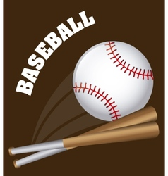 baseball design vector image