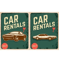 car rentals vector image