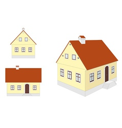 countryside houses vector image vector image
