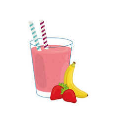 delicious and sweet smoothie vector image vector image