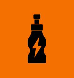 Energy drinks bottle icon vector