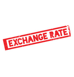 Exchange rate rubber stamp vector