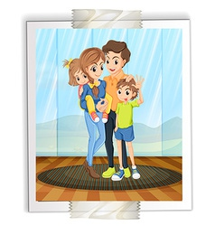 Family photo vector image
