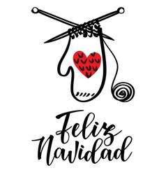 Feliz navidad lettering vector