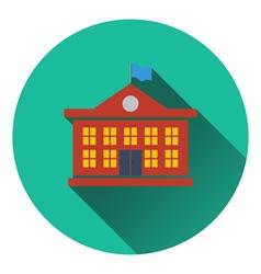 Flat design icon of school building in ui colors vector