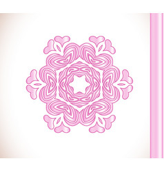 flower pink mandala vector image