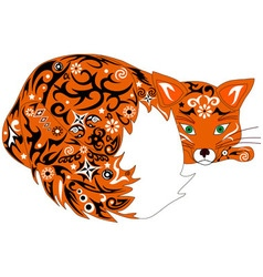 fox orange vector image
