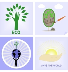 Logos of the protection of nature vector