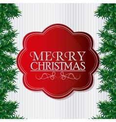 Merry christmas label design vector