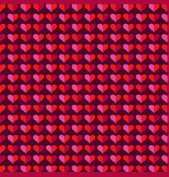 Mod heart background valentines day pattern vector