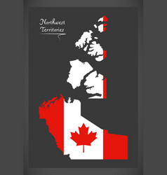 northwest territories canada map vector image vector image