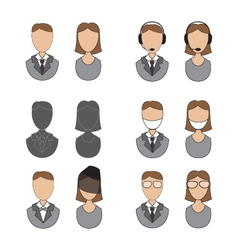 People icons flat design vector image