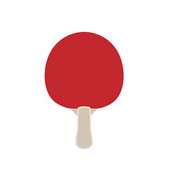 ping pong paddle tennis icon isolated vector image