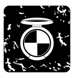 Round palette eye shadow icon grunge style vector