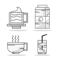 set delicious coffe with differents taste vector image vector image