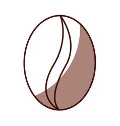 Shadow coffee bean cartoon vector