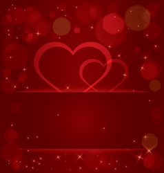 Sparkling hearts light pocket vector image vector image