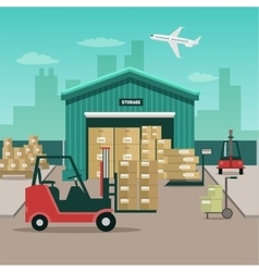 stack of containers vector image