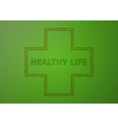 Stamp with healthy life vector