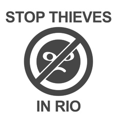 Stop thieves poster vector image vector image