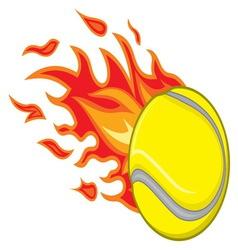Teniska loptica vatra resize vector image