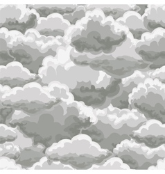 Thunder sky seamless pattern vector image vector image