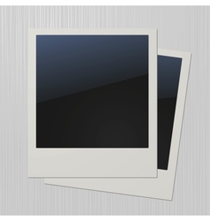 Two blank retro polaroid photo frames vector